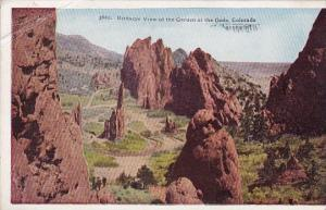 Colorado Birdseye View Of The Garden Of The Gods 1925