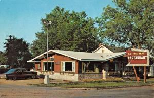 Gaylord Michigan By The Way Restaurant Street View Vintage Postcard K89860