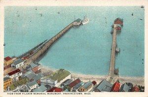 LPS87 Provincetown Massachusetts View from Pilgrim Memorial Monument Postcard