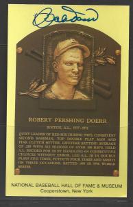 Bobby Doerr Autograph on HOF Plaque
