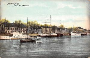 Norrkoping  Östergötland Sweden~Freta on Boat @Harbor c1910 Postcard