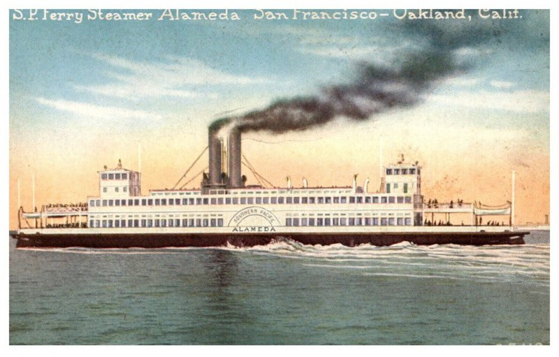 S.P. Ferry Steamer Almeda San Francisco -Oakland California