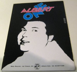 Advertising Music Albert One Baby Records Italy - unposted
