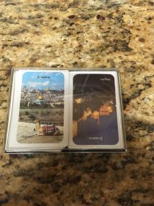 Souvenir Jerusalem Playing Cards, Bridge Double deck in case