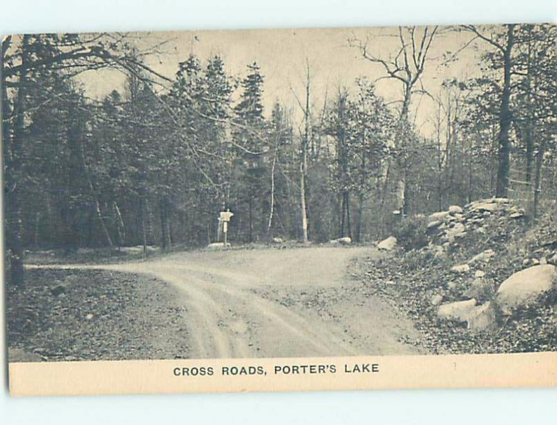 Divided-Back CROSS ROADS Porters Lake - Near Dartmouth Nova Scotia NS F3675