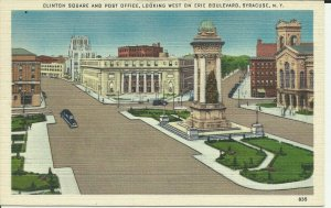 Clinton Square And Post Office,Looking West On Erie Boulevard, Syracuse,N.Y.