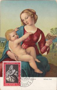 Madonna di casa colonna by Raffaello Sant, Vatican Stamp, PU-1963