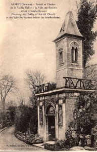 France Albert Doorway and Belfry Of Old Church At Villa des Rochers Before Th...