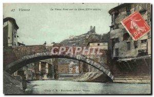 Old Postcard Vienna Old Bridge On The Train
