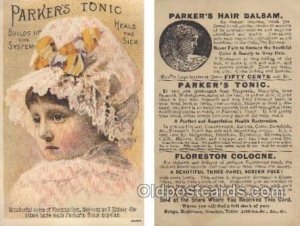 Parkers Tonic Heals the Sick Trade Card Approx Size Inches = 2.75 x 4.5 Unused