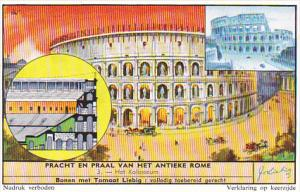 Liebig Trade Card s1662 Beauty Of Ancient Rome No 3 Het Kolosseum