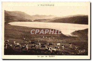 Auvergne Old Postcard Lake Guery (cows)