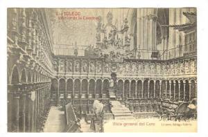 Interior, Vista General Del Coro, Interior De La Catedral, Toledo (Castilla L...