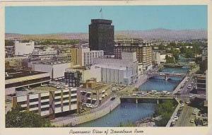 Nevada Reno Panoramic View Of Downtown Reno