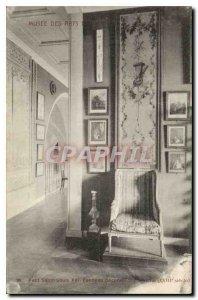 Old Postcard Musee des Arts Decoratifs Petit Salon Louis XVI Decorative panel