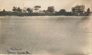 Prospect Harbor ME The Sands Shore View Real Photo 1909 Postcard