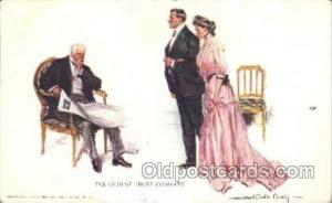 Artist Signed Howard Chandler Christy, Postcard Postcards The Oldest Trust Co...