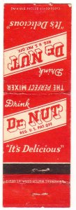 Dr. Nut Soda matchbook cover – scarce