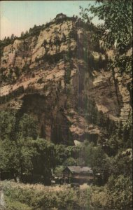 Flagstaff AZ HWY 79 Canyon Lodge Albertype Hand Colored Postcard