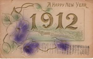 US    PC1171 HAPPY NEW YEAR 1912