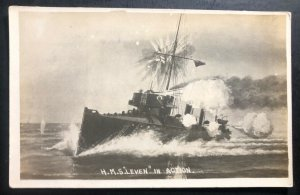 Mint England Real Picture Postcard RPPC HMS Leven Battleship Royal Navy
