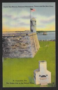 Castle San Marcos Monument Tower Hot Shot Oven St Augustine FL Unused c1930s