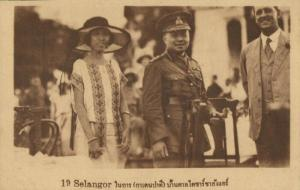 siam thailand, King Rama VI Vajiravudh and Spouse in Selangor, Malaysia (1920s)