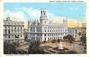 Habana Cuba, Republica de Cuba Centro Asturiano, Parque Central Habana Centro...