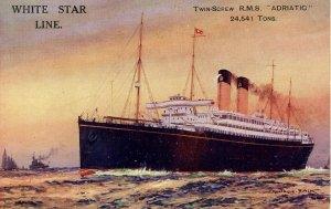 White Star Line - RMS Adriatic. Artist: Montague Black