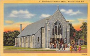 F4/ Rehoboth Beach Delaware Postcard 1952 Linen St Edmund's Catholic Church 5