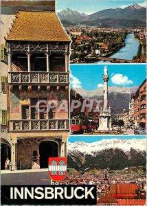Postcard Modern Alpenzentrun Tirol Innsbruck Goldenes Dasht Maria Theresienst...
