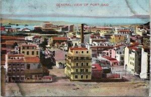General View of Port Said Egypt Unused Postcard G84