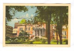 Hotel de Ville, City Hall,Sherbrooke, Quebec, Canada 30-50s