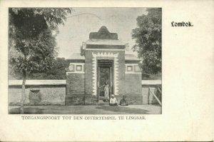 indonesia, LOMBOK LINGSAR, Gateway to the Sacrificial Temple (1899) Postcard