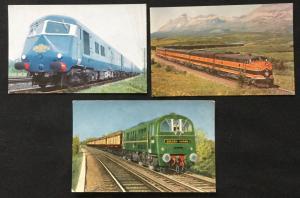 Postcard 3 UnUsed Trains LB