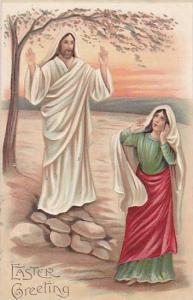 Representating Jesus & A Woman, Easter Greetings, PU-1909