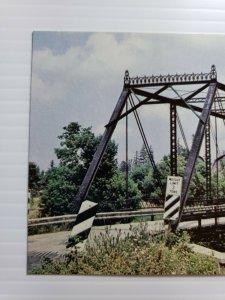 VTG Postcard Old Black Bridge Frankenmuth Michigan Dehmel Road 1986 unposted 628