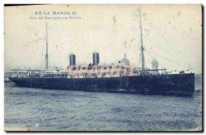 Postcard Old Ship SS Marsa II Joint Navigation Co.