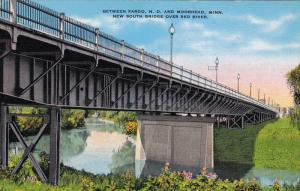The New South Bridge over Red River,  between Fargo,  N.D. and Moorhead,  Min...