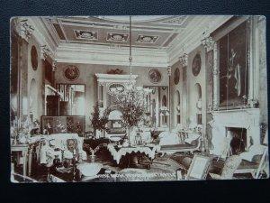 Devon Exminster POWDERHAM CASTLE The Music Room - Old RP Postcard Chapman & Son