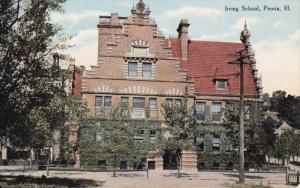 PEORIA, Illinois, 1900-1910´s; Irving School