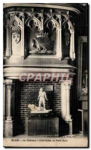 Old Postcard Blois Chateau Cheminee the Porcupine