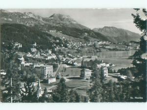 old rppc NICE VIEW St. Moritz Bad Switzerland i3410