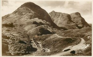 Three sisters pass of Glencoe postcard