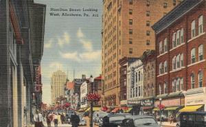 ALLENTOWN, PA Pennsylvania  HAMILTON STREET~West  ALLEN CLOTHES c1940's Postcard