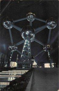 Belgium Atomium La Nuit Night View Psotcard
