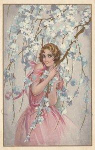 ART DECO ; BUSI ; Woman & Tree , 1910-20s