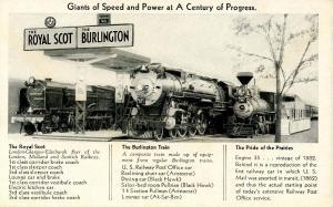 IL - Chicago. Century of Progress, Giants of Speed, Burlington Route Exhibit