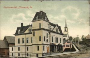 Ellsworth ME Oddfellows Hall c1910 Postcard