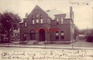 pre-1907 MEMORIAL HALL & PUBLIC LIBRARY, PALMER, MASS. 1906